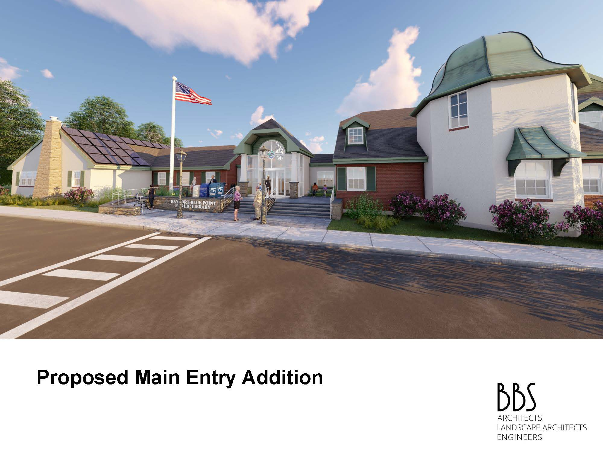 Drawing of the proposed main entry addition