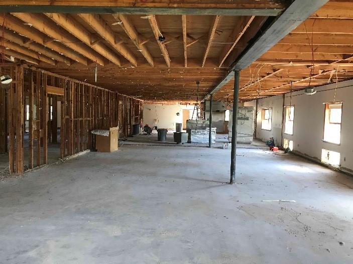 Interior renovation in progress